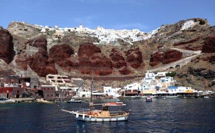 Santorini s unique landscape