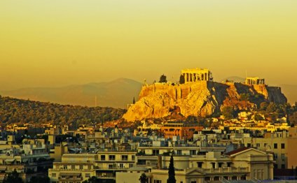 Sunset view of the Acropolis