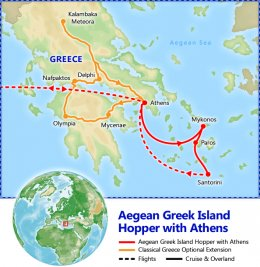 Aegean Greek Island Hopper tour itinerary