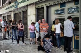 As of June 29, domestic account holders can only withdraw €60 per day from cash machines