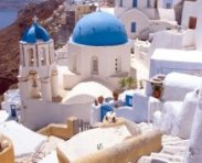 Blue Churches, Oia, Santorini Island