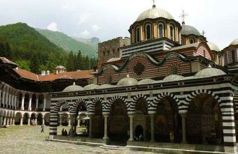 The dazzling domes of Bulgaria's Rila Monastery. Image by Anita Isalska / Lonely Planet.